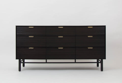 Nine-Drawer Ebonized Dresser by Raymond Loewy for Mengel