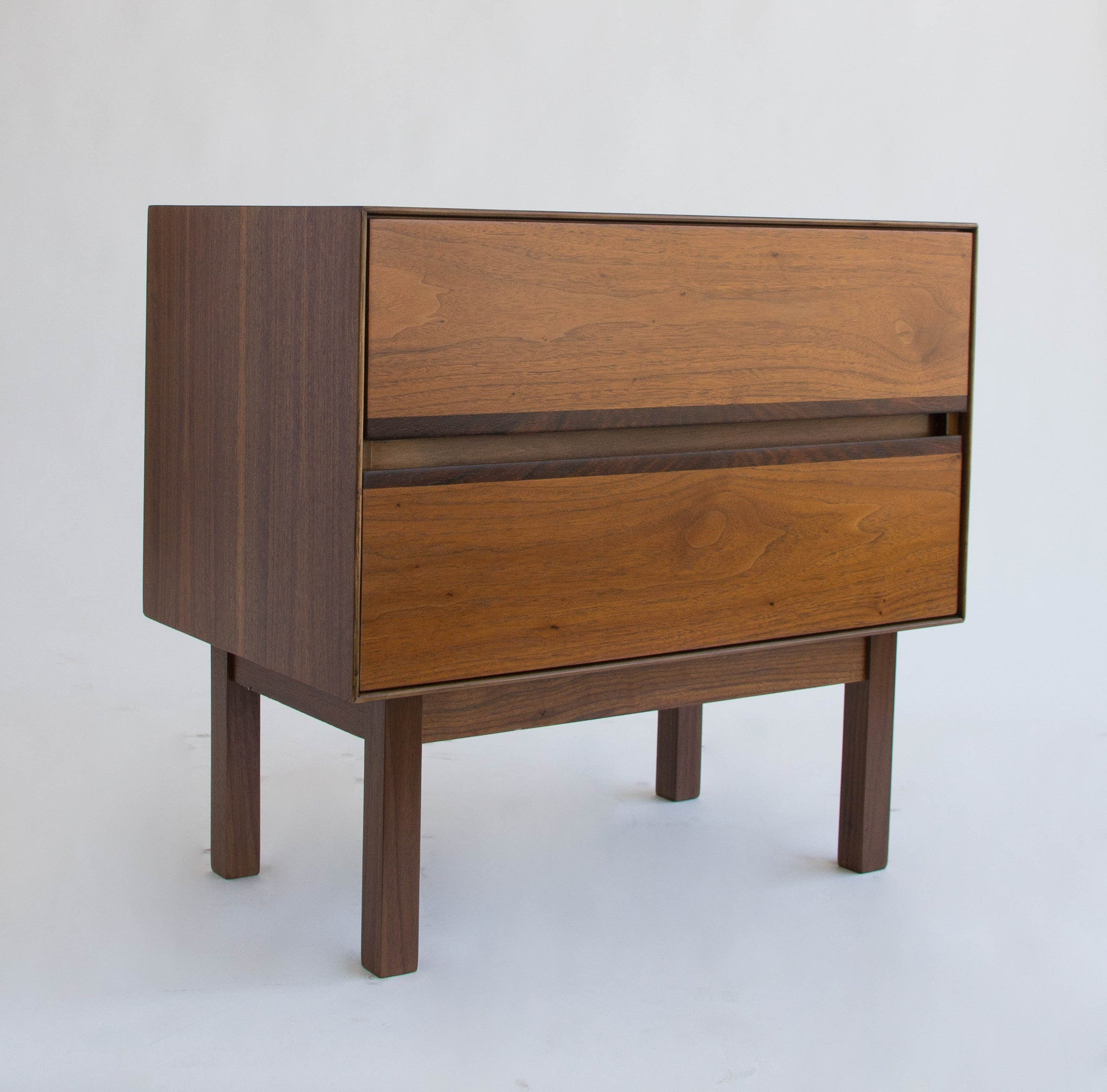 browning furniture. h paul browning for stanley furniture co walnut and rosewood nightstand w