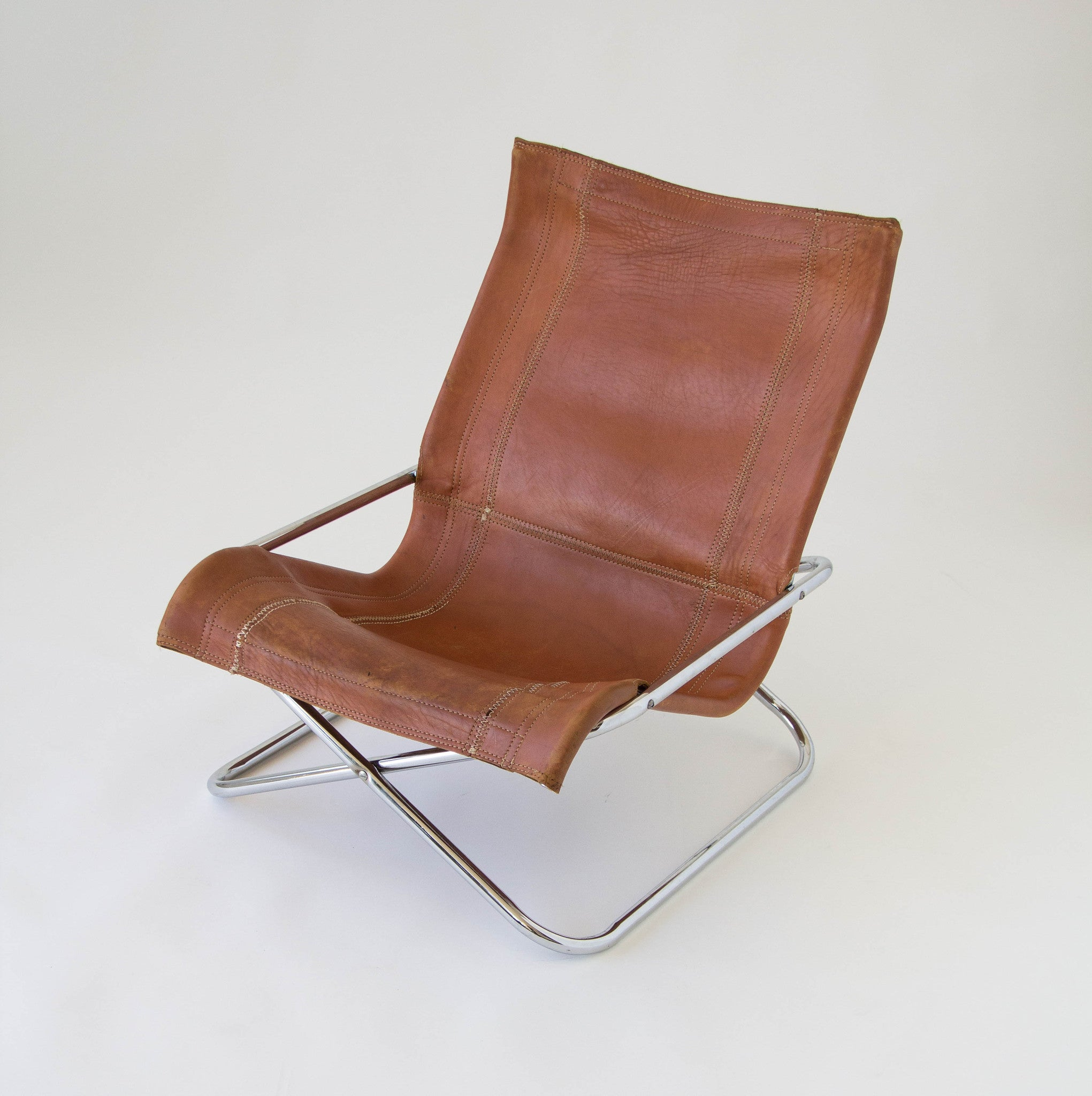 Sueki Uchida Leather Sling Chair – Den M¸bler