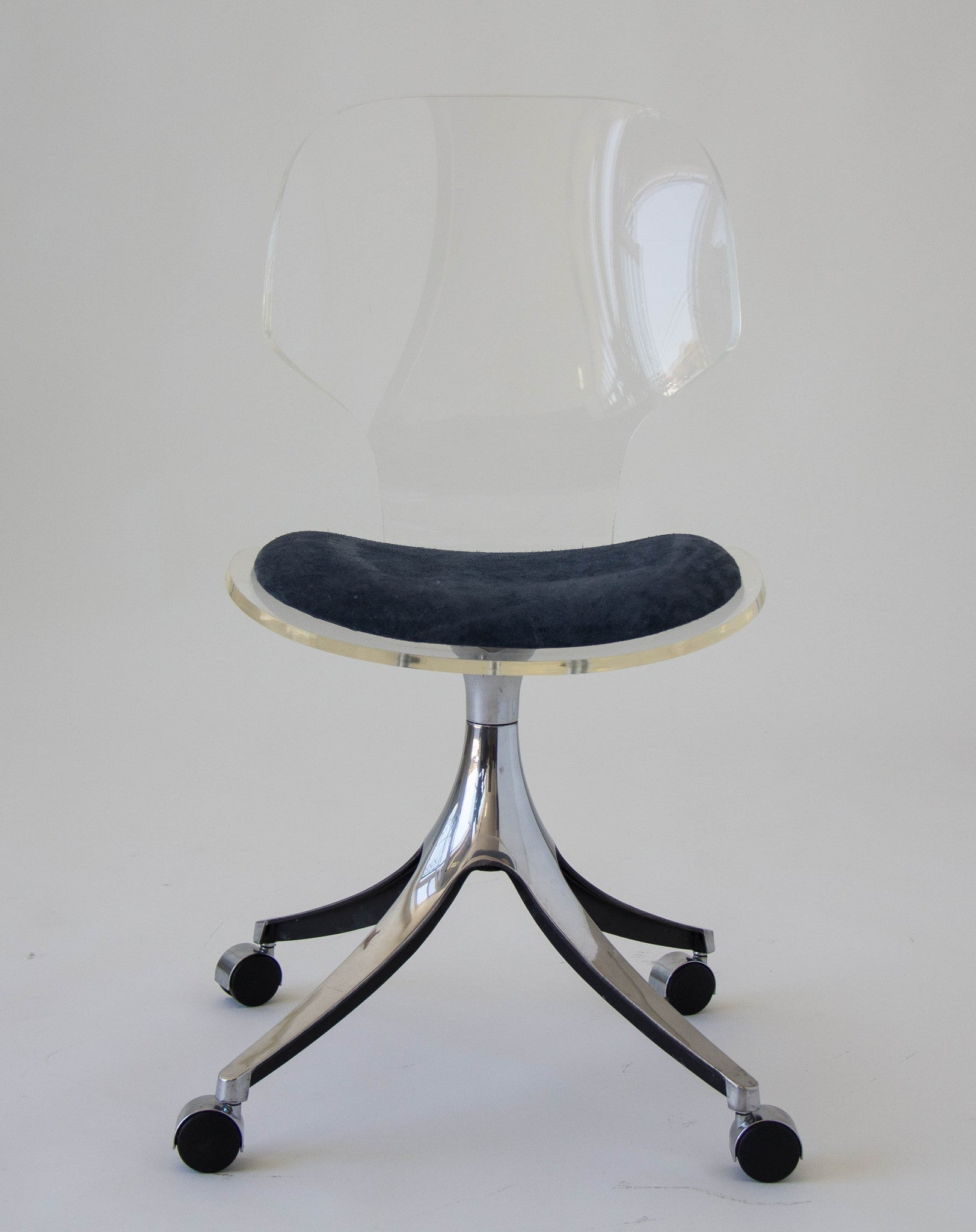 Hill Manufacturing Co Lucite Rolling Desk Chair – Den M¸bler