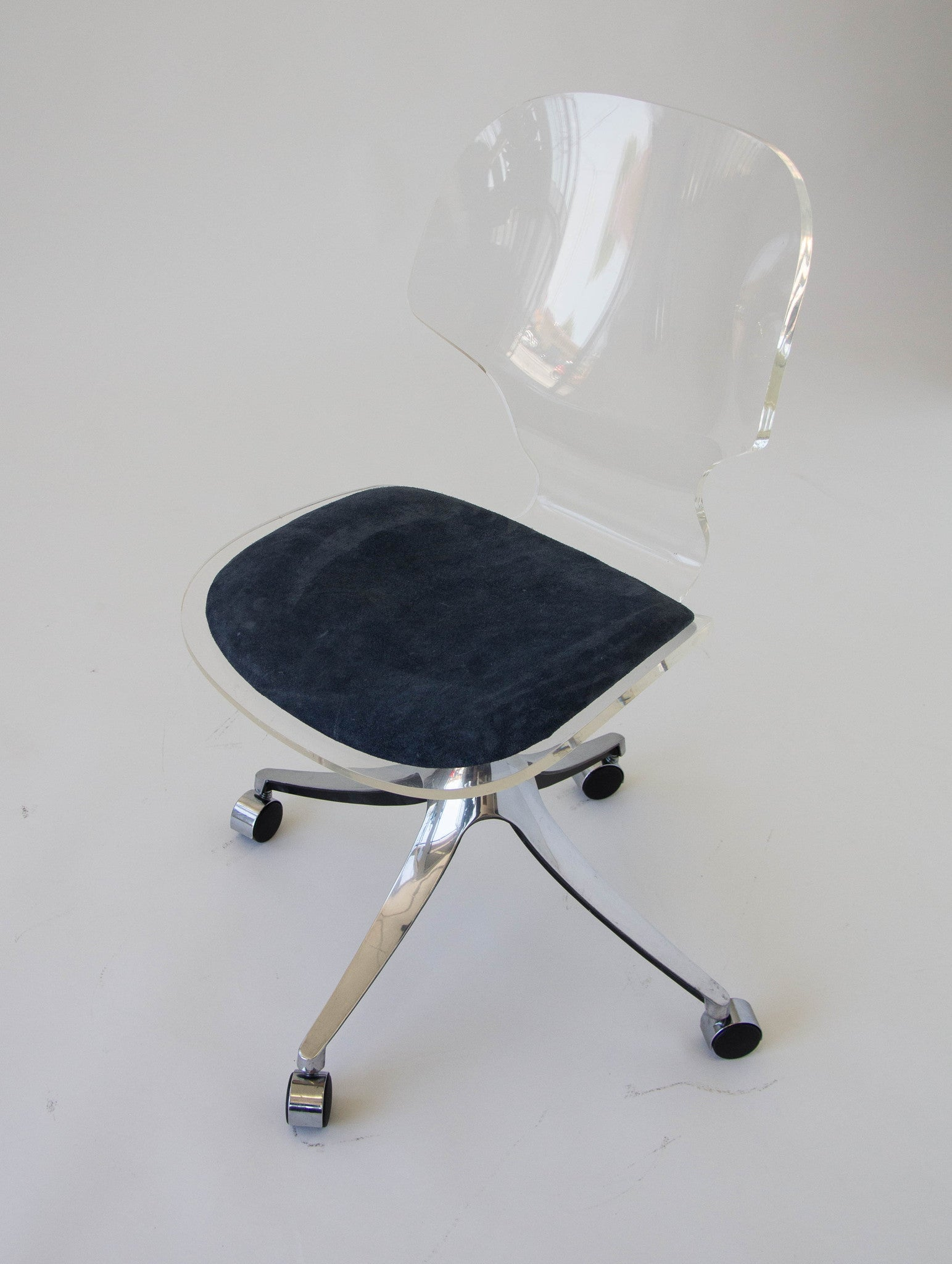 lucite office chair. lucite rolling desk chair office