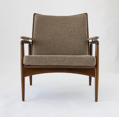 Danish Modern Lounge Chair Imported by Selig