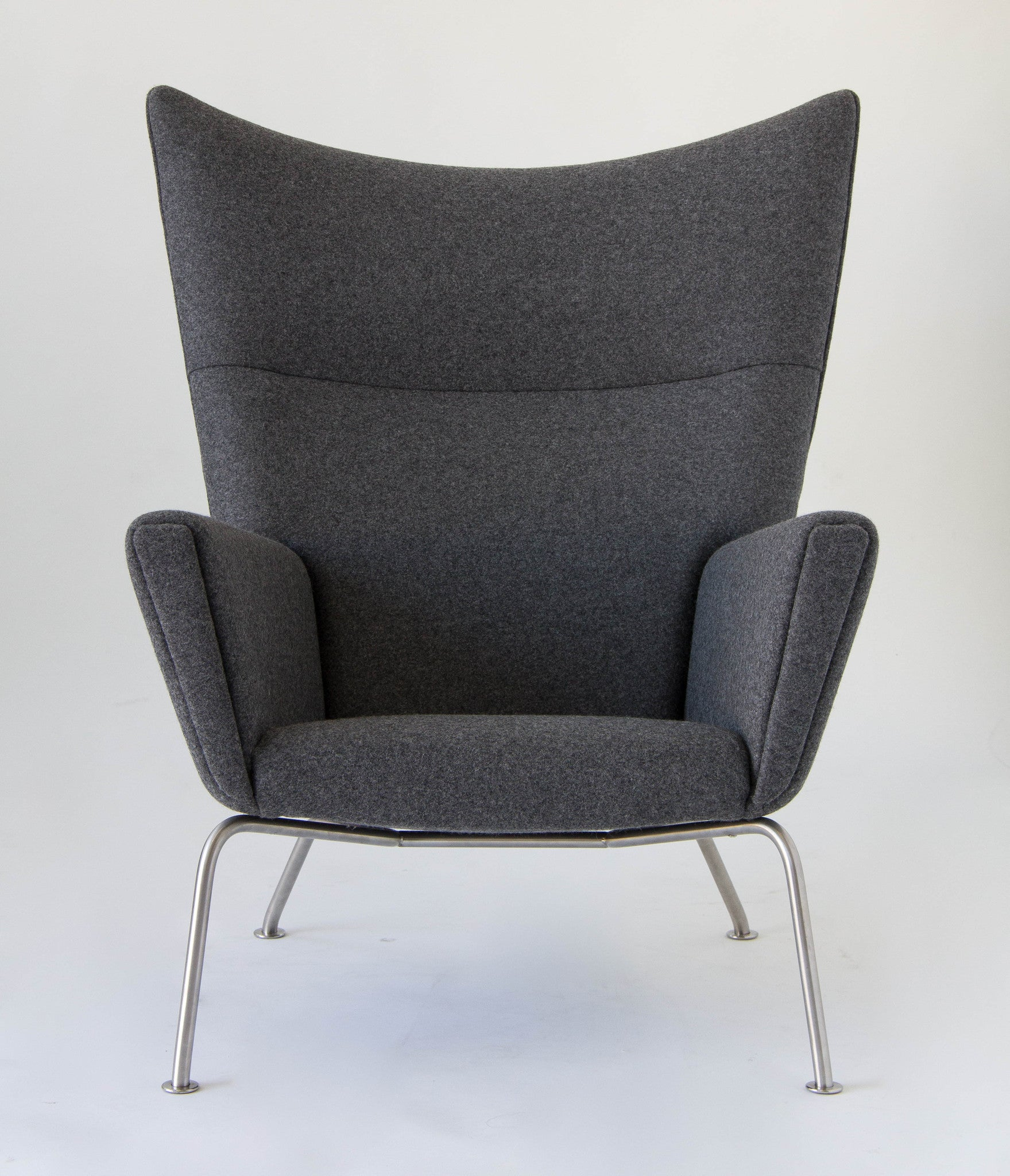 Wing chair with ottoman - Hans Wegner Ch445 Wingback Chair With Ch446 Ottoman