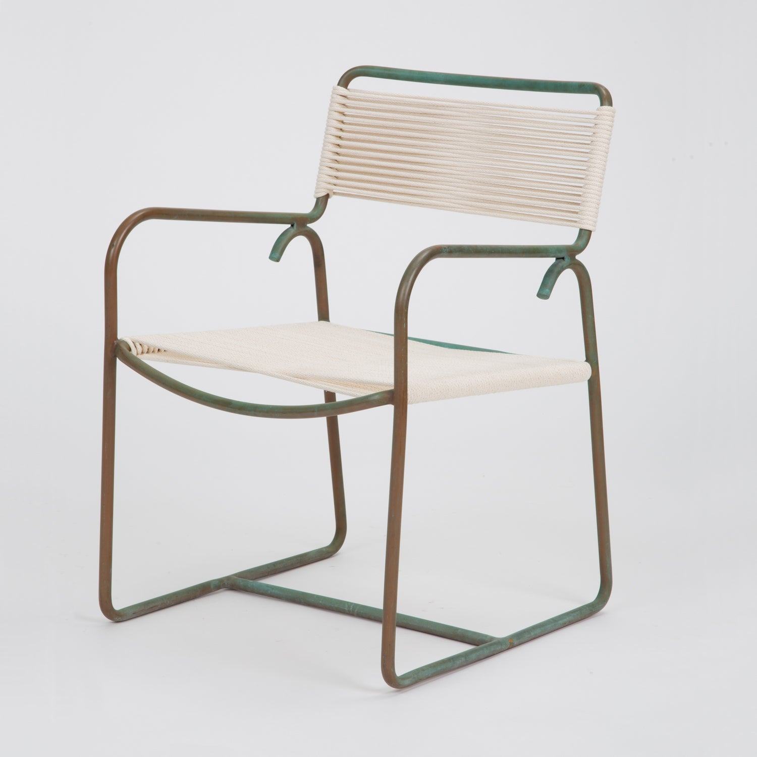 Single Dining Armchair by Walter Lamb for Brown Jordan