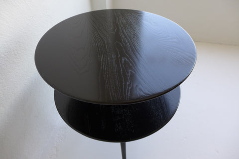 Ebonized Oak Two-Tiered Side Table by Paul Frankl for Brown Saltman
