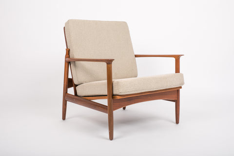 ON HOLD****Ib Kofod Larsen Reclining Lounge Chair with Cut Out Detail for Selig