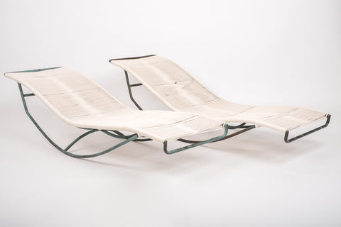 Pair of Waikiki Rocking Lounge Chairs by Walter Lamb for Brown Jordan