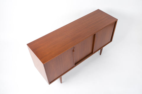 Gunni Omann Teak Cabinet with Three Sliding Panels