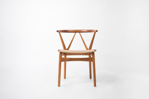 Set of Six Model 225 Teak Dining Chairs by Henning Kjærnulf for Bruno Hansen