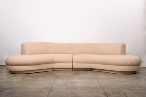 Two-Piece Directional Sofa by Vladimir Kagan