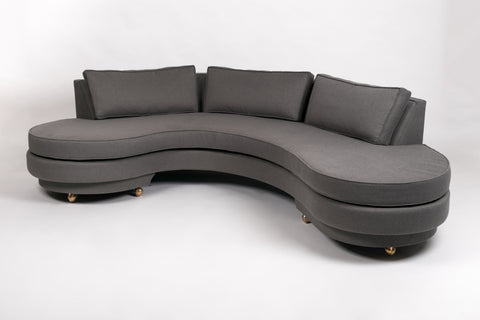1950s Custom Kidney Sofa