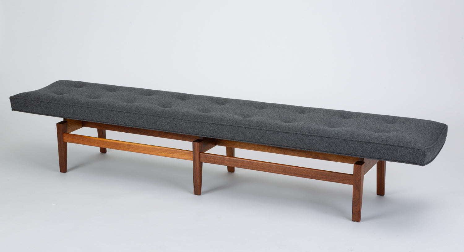 Long Upholstered Bench by Jens Risom