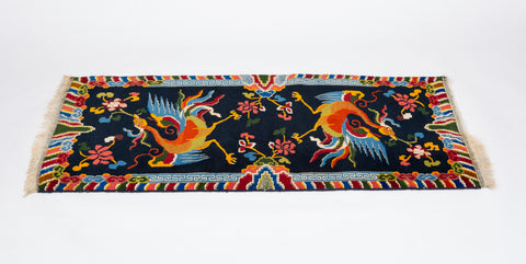 Tibetan Carpet with Phoenix Design