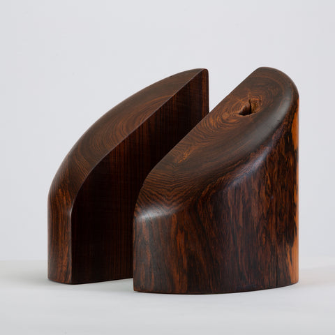 Pair of Solid Cocobolo Bookends by Don Shoemaker for Señal
