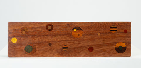 "Don Shoemaker Inlaid ""Planetarium"" Cutting Board"