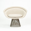 Platner Collection for Knoll Lounge Chair in White Bouclé