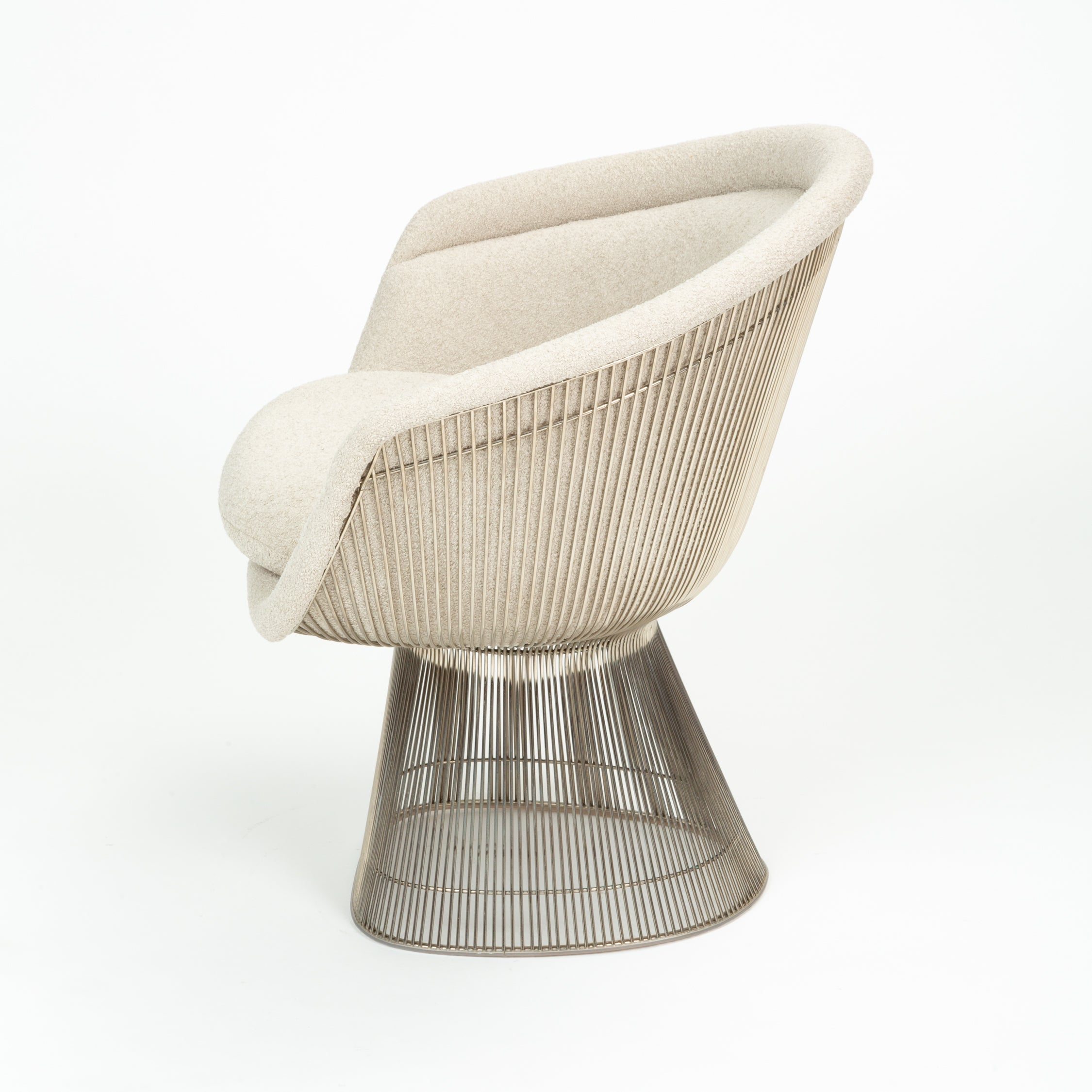 Sensational Platner Collection For Knoll Lounge Chair In White Boucle Gamerscity Chair Design For Home Gamerscityorg