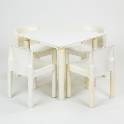Dining Set by Carlo Bartoli and Anna Castelli Ferrieri for Kartell