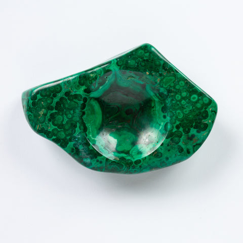 Hand-Carved Malachite Ashtray