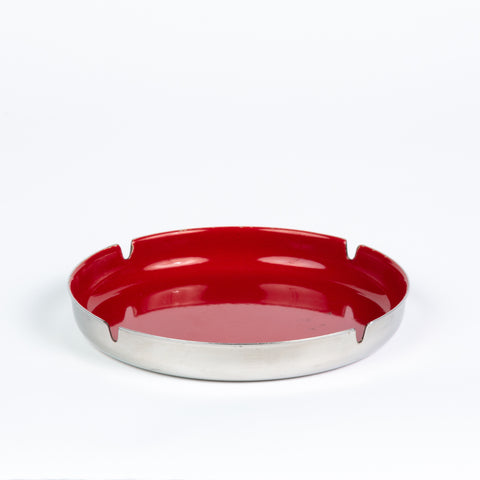 Enamelware and Stainless Steel Ashtray by Leif Wessmann