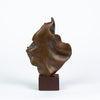 Abstract Bronze Statuette with Draped Effect