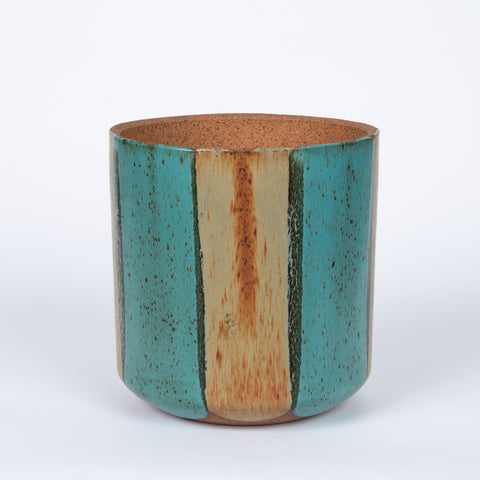 LaGardo Tackett / David Cressey Flame Glaze Planter for Architectural Pottery - Teal