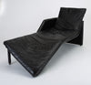 1980s Leather Chaise Lounge by Preview
