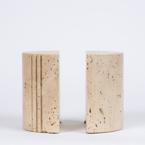Fratelli Mannelli Travertine Bookends