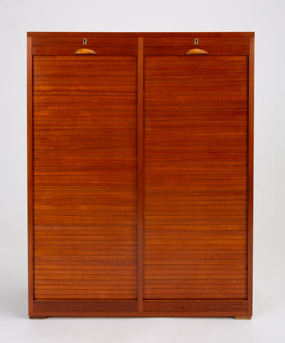 Danish Tambour Door Filing Cabinet by Frej-Odense