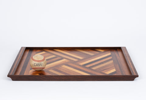 Inlaid Tray with Diamond Pattern by Don Shoemaker for Senal