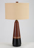 Danish Teak Lamp with Inlaid Brass