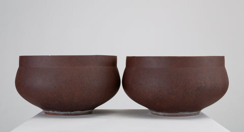 Pair of David Cressey Pro/Artisan Bowl Planters for Architectural Pottery
