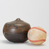 Brown and Black Glazed Studio Pottery Weed Pot by Sakamoto