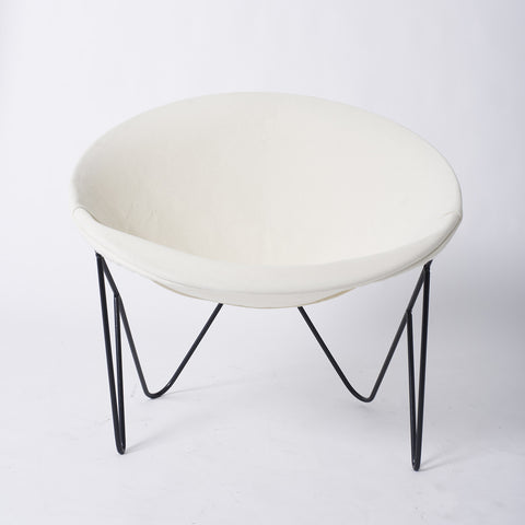 Single California Modernist Hoop Chair with Hairpin Legs
