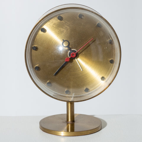 George Nelson Model 4766 Brass Clock for Howard Miller