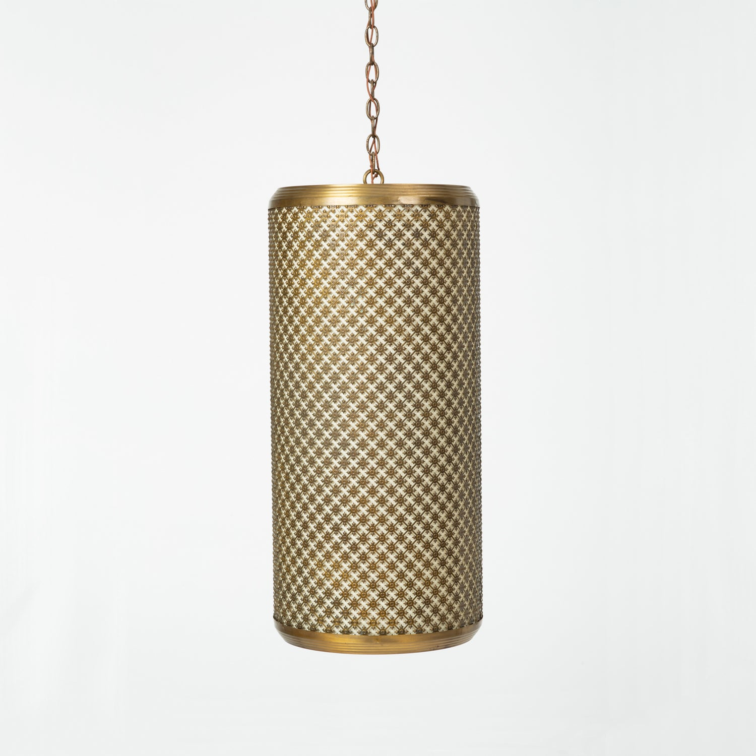 Metal Grated Pendant Light Fixtures by The Feldman Company