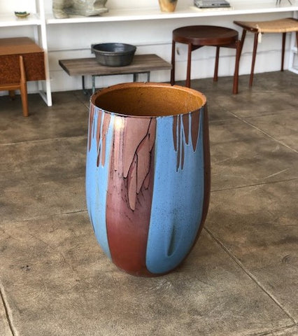 "David Cressey ""Flame Glaze"" Planter for Architectural Pottery"