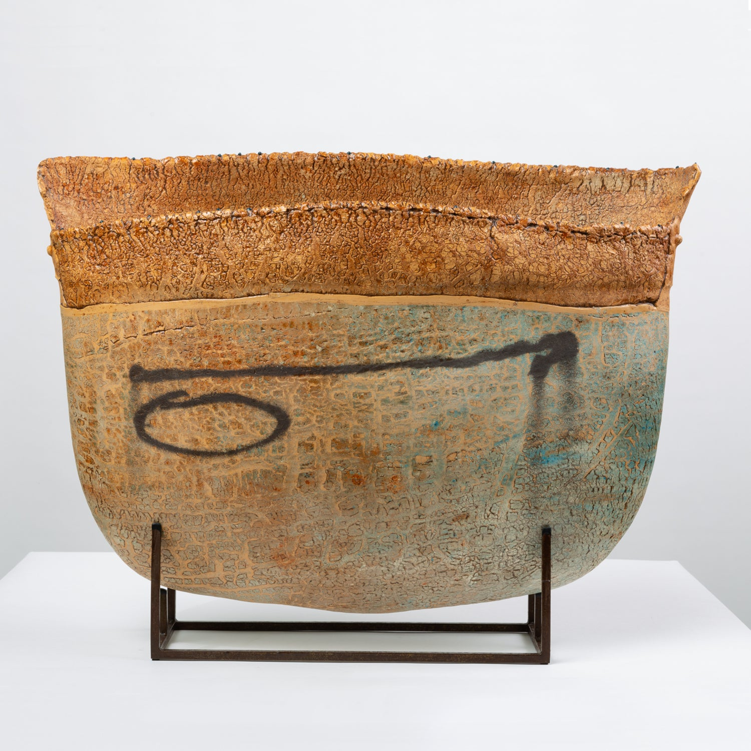 Ceramic Art Vessel with Mount by Jim Kraft
