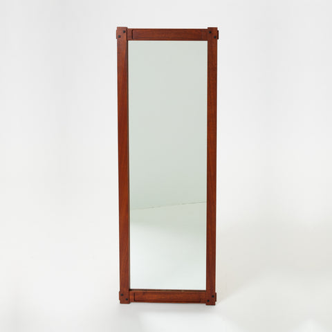 Craftsman-Style Wall Mirror with Ebony Inlay
