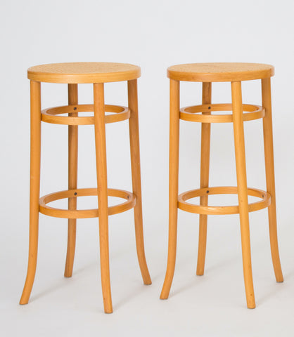 A Pair of Thonet Bentwood Bar Stools