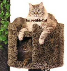 6 Foot Breckenridge: No Landings Three Luxury Cat Beds & Bungalow