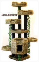 6 Foot Breckenridge: Three Luxury Cat Beds & Bungalow