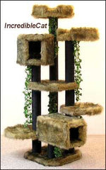 6 Foot Breckenridge: Two Luxury Cat Beds, Tunnel & Tree House