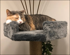 6 Foot Breckenridge: Three Luxury Cat Beds & Tunnel