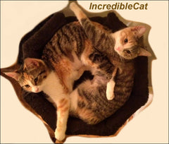 4 Foot Boulder: Two Luxury Cat Beds & Bungalow