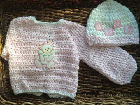 Clearance Baby Teddy Bear Jacket and Beanie Gift Set