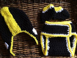 Pittsburgh Football Crochet Baby Gift Set