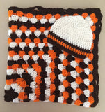 Cleveland Browns Inspired Baby Blanket Gift Set