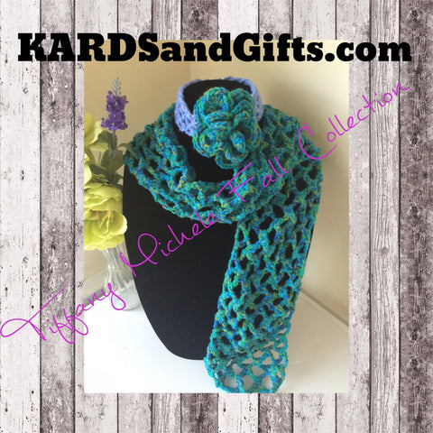 Clearance Sparkle Seas Scarf with Headband - Kids