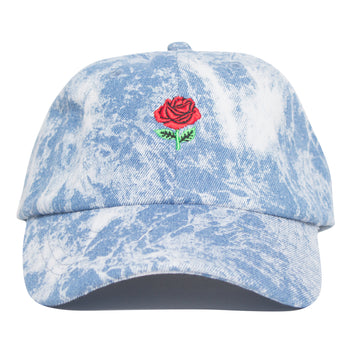 Rose Denim Bleached Hat